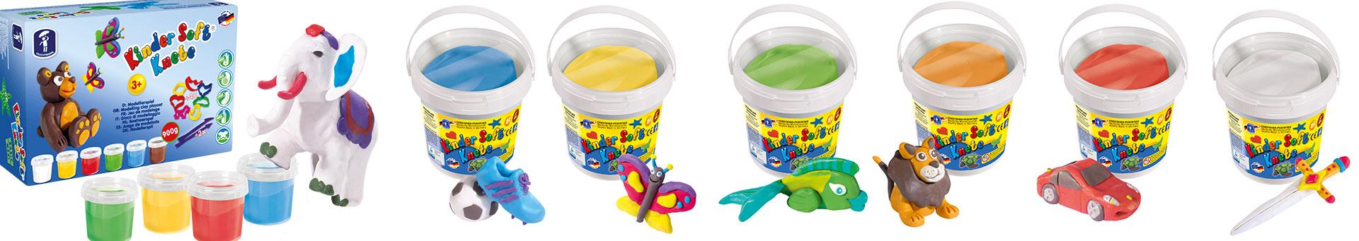 Feuchtmann Kinder Soft Knete Basic 150 g Dose FARBAUSWAHL Modellieren Knetmasse